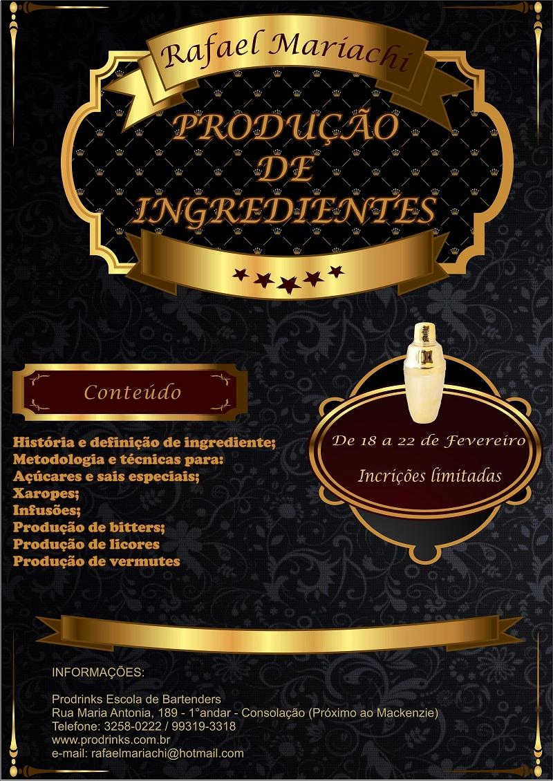 produção de ingredientes
