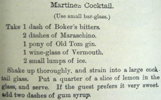 Dry Martini martinez
