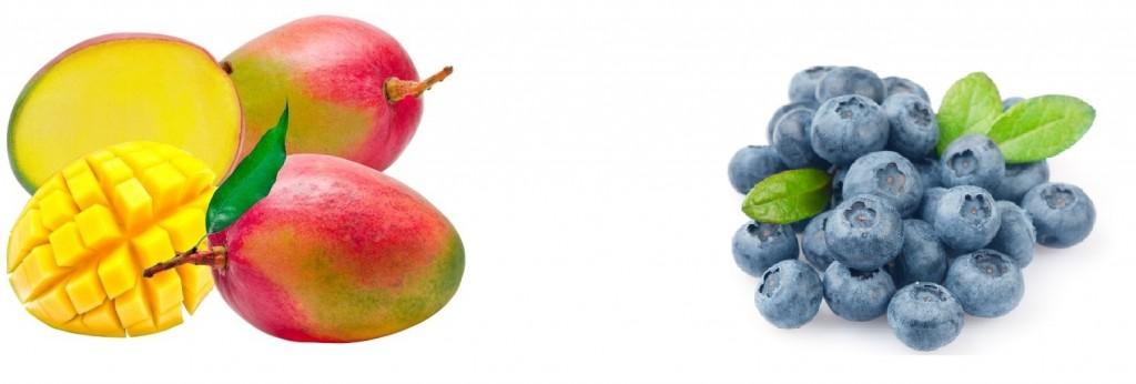 A manga exala perfume, que indica se a fruta está doce e madura