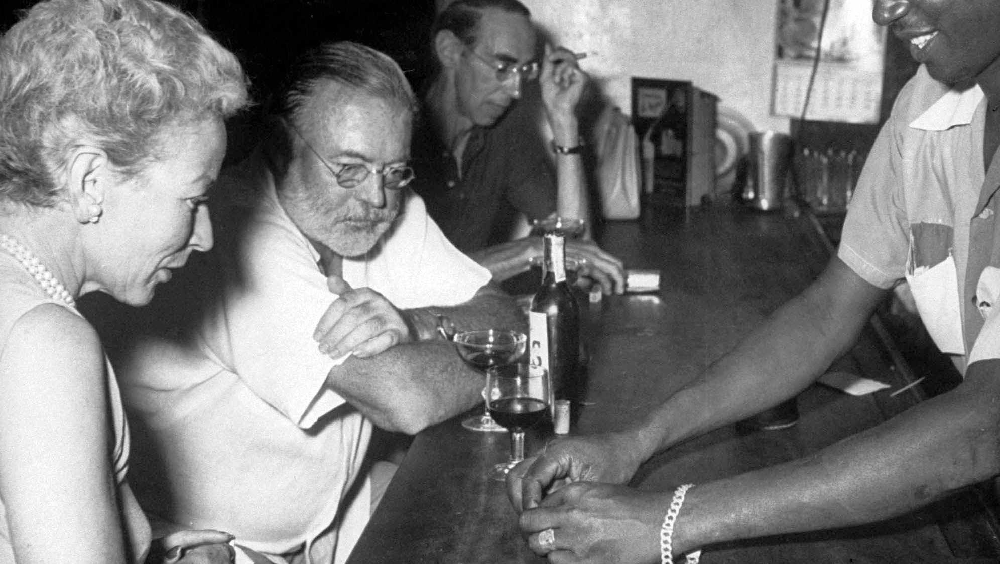 Ernest Hemingway with his wife Mary in Cuba.